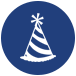 party hat icon for for ssc united social coordinator job opportunities